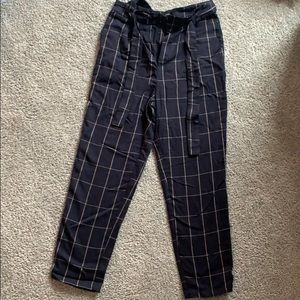 Forever 21 straight leg plaid pants